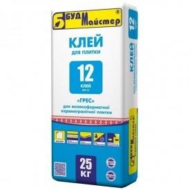 Клей для керамогранита БудМайстер КЛЕЙ-12 25 кг