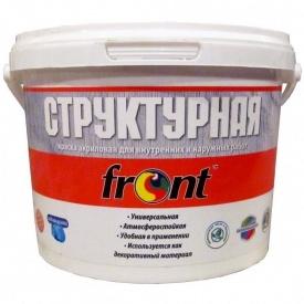 Краска водоэмульсионная структурная Фронт 3 кг