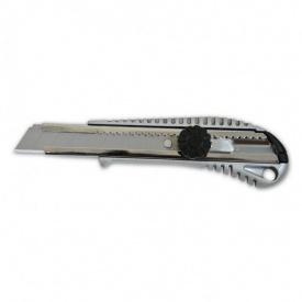 Нож с вращающимся фиксатором усиленный металлический 18 мм
