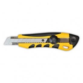 Нож с вращающимся фиксатором усиленный универсальный 18 мм
