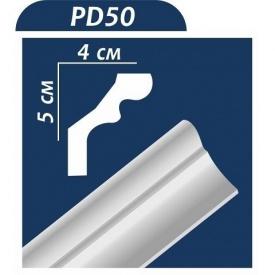 Плинтус потолочный Premium Decor PD50 2,00 м 50x40