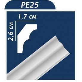Плинтус потолочный Premium Decor РЕ25 (МЕ) 26x17 мм 2 м