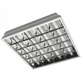 Растровый встраиваемый светильник ЛВО 4x18 Master-light