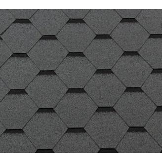 Битумная черепица RoofShield Классик Стандарт 14 серый