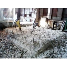 Демонтаж железобетонных фундаментов
