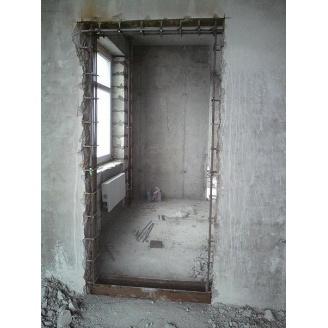 Демонтаж дверного проема в бетонной стене от 13 до 18 см