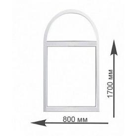 Арочное окно Rehau 800х1700 мм