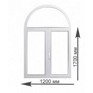 Арочное окно Rehau 1200х1700 мм
