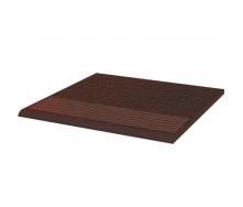 Ступень рельефная прямая Paradyz Cloud структурная 30x30 см brown duro