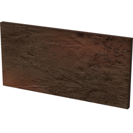 Клінкерна плитка Paradyz Semir Brown Базова під ступені структурна 30x14,8 см