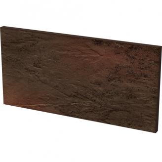 Клинкерная плитка Paradyz Semir Brown Базoвая под ступени cтруктурная 30x14,8 см