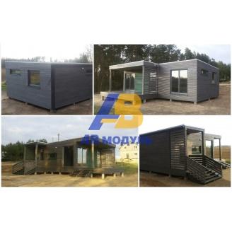 Готовый модульный дом по технологии Prefab 50 м2