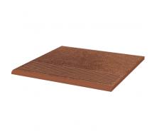 Клинкерная плитка Paradyz Taurus Brown ступень рельефная prosta strukturalna 30х30 см
