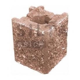 Камень навесной угловой Силта-Брик Элит 38-24 129х150х129 мм