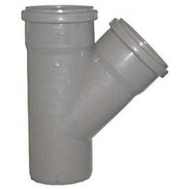 Тройник 67° для внутренней канализации пропилен 110х110х10 мм