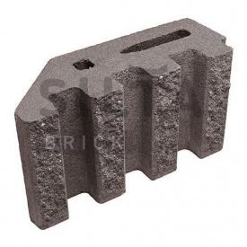 Блок декоративний Сілта-Брік Кольоровий 34 канелюрний кутовий 390х190х140 мм