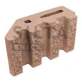 Блок декоративний Сілта-Брік Еліт 38-24 канелюрний кутовий 390х190х140 мм