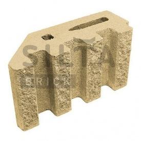 Блок декоративный Силта-Брик Элит 36 канелюрный угловой 390х190х140 мм