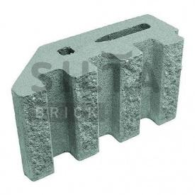 Блок декоративный Силта-Брик Элит 32 канелюрный угловой 390х190х140 мм