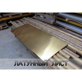 Латунний лист Л63 2,5х600х1500 мм