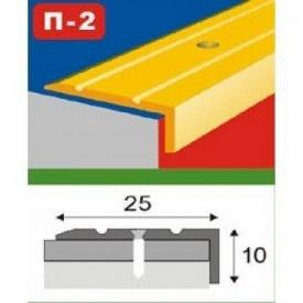 Порог ламинированный алюминиевый П2 0,9 м