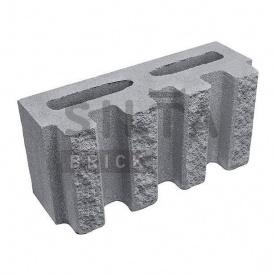 Блок декоративний Сілта-Брік Сірий 14 канелюрний 390х190х140 мм