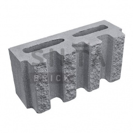 Блок декоративный Силта-Брик Серый 14 канелюрный 390х190х140 мм