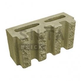 Блок декоративный Силта-Брик Цветной 25-4 канелюрный 390х190х140 мм