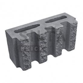 Блок декоративний Сілта-Брік Кольоровий 0-2 канелюрний 390х190х140 мм