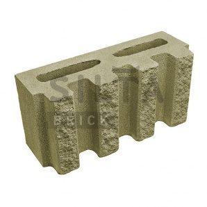 Блок декоративний Сілта-Брік Кольоровий 25-4 канелюрний 390х190х140 мм