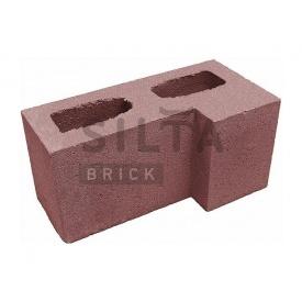 Блок гладкий Силта-Брик Цветной 24-2 угловой 390х190х190 мм
