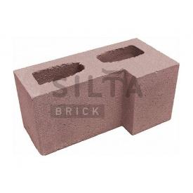 Блок гладкий Силта-Брик Элит 53 угловой 390х190х190 мм