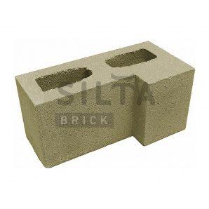 Блок гладкий Сілта-Брік Кольоровий 25-4 кутовий 390х190х190 мм
