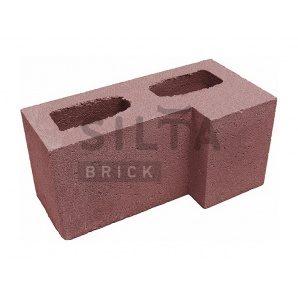 Блок гладкий Сілта-Брік Кольоровий 24-2 кутовий 390х190х190 мм