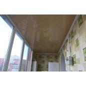 Натяжной потолок глянцевый 0,17 мм песочный