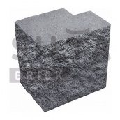 Напівблок декоративний Сілта-Брік Кольоровий 0-2 кутовий повнотілий 190х190х140 мм
