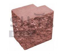 Полублок декоративный Силта-Брик Цветной 24 угловой полнотелый 190х190х140 мм