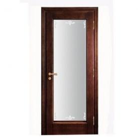 Міжкімнатні дерев'яні двері зі склом (R-014G)