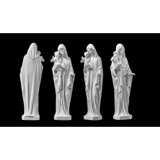 Скульптура Мать с младенцем 500х170х100 белый