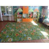 Килим Вітебські килими Квіти 20 дитячий 6мм зелений