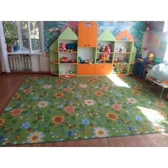 Ковер Витебские ковры Цветы 20 детский 6мм зеленый
