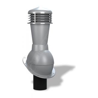 Вентиляционный выход Wirplast Normal К23 110x500 мм серый RAL 7046
