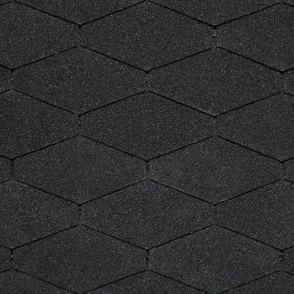 Битумная черепица IKO Diamant 284х1000 мм 01 Black