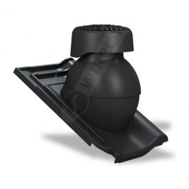 Фановый выход Wirplast Tile K85 110х265 мм черный RAL 9005