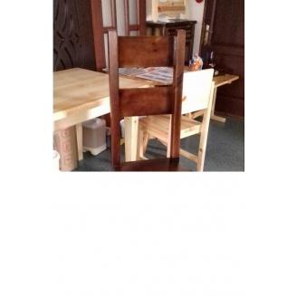 Стілець-трон з масиву сосни
