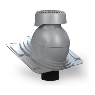 Фановый выход Wirplast Uniwersal K86 110х265 мм серый RAL 7046