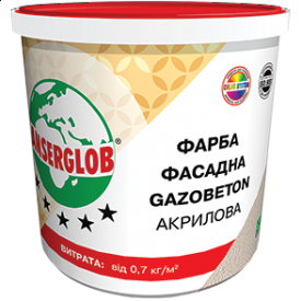 Краска структурная Anserglob Gazobeton акриловая 28 кг