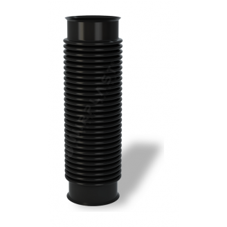 Переходник для вентиляционных выходов Wirplast Rury U33 110x420 мм черный RAL 9005