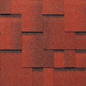 Битумная черепица NORDLAND Альпин 3х337х1000 мм красный с отливом
