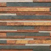 Фасадная плитка Cerrad Zebrina структурная 600x175x9 мм rust